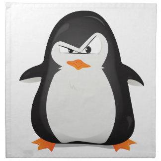 Pingüino enojado servilletas