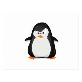 Pingüino enojado postal