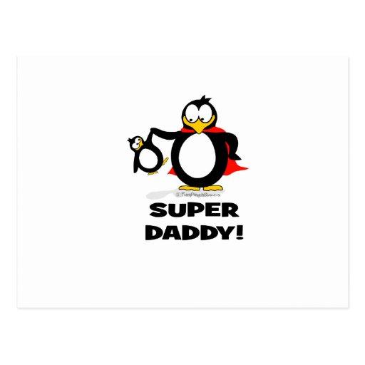 Pingüino estupendo del papá postal