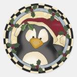 Pingüino Etiquetas Redondas