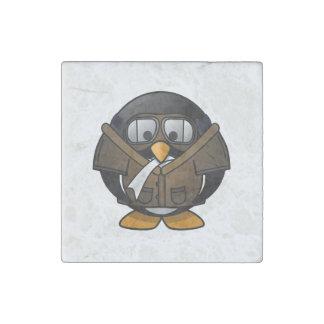 Pingüino experimental imán de piedra
