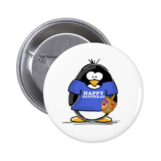 Pingüino feliz de Jánuca Pins