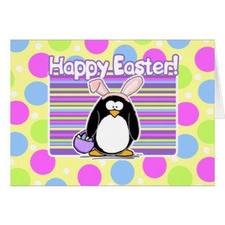 Pingüino feliz de Pascua Tarjeta De Felicitación