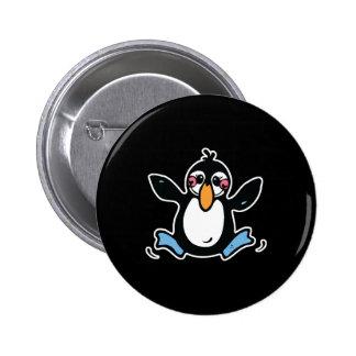 pingüino feliz del bebé pin redondo 5 cm