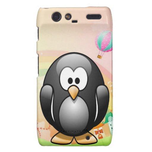 Pingüino feliz droid RAZR fundas