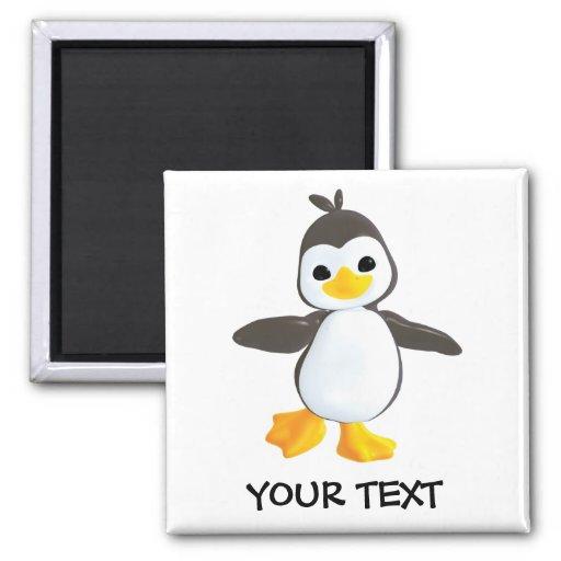 Pingüino feliz imanes de nevera