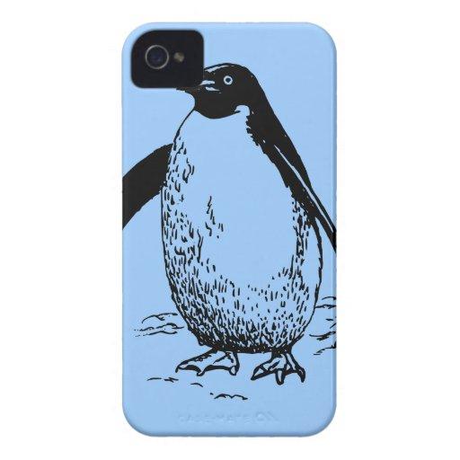 Pingüino feliz iPhone 4 protector