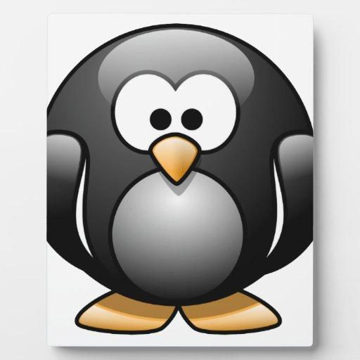 Pingüino feliz placas de madera