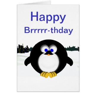 Pingüino feliz tarjeta de felicitación