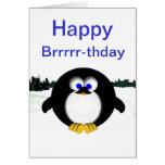 Pingüino feliz tarjetón