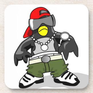 Pingüino fresco de Hip Hop Posavasos De Bebidas