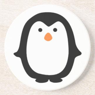 Pingüino fresco del dibujo animado posavasos diseño