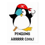 Pingüino fresco del pirata postal