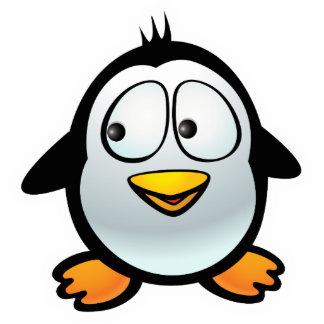 Pingüino fresco imán fotoescultura