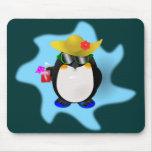 Pingüino fresco Mousepad del verano Tapete De Ratón