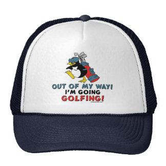 Pingüino Golfing Gorra
