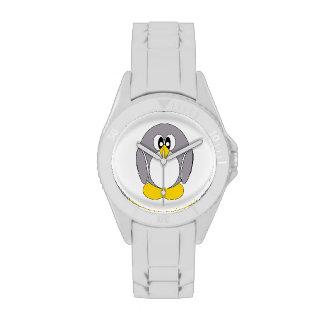 Pingüino gris relojes