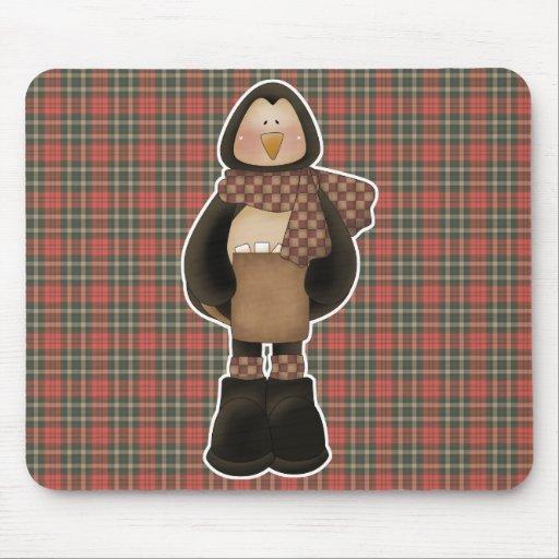 pingüino hivernal lindo mouse pad