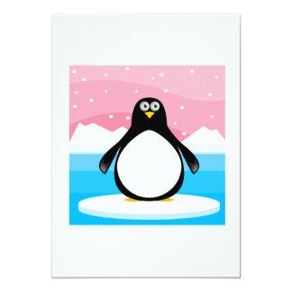 "Pingüino Invitación 5"" X 7"""