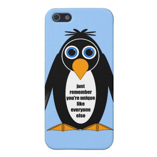 pingüino iPhone 5 fundas