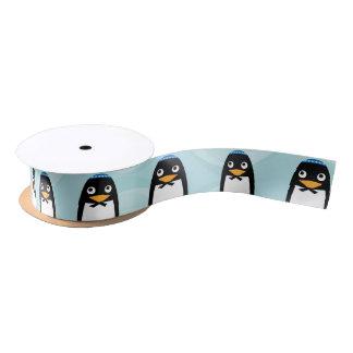 Pingüino judío feliz lazo de raso