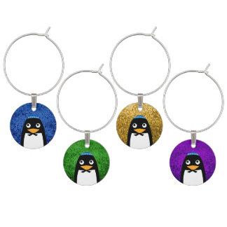 Pingüino judío feliz identificadores de copas