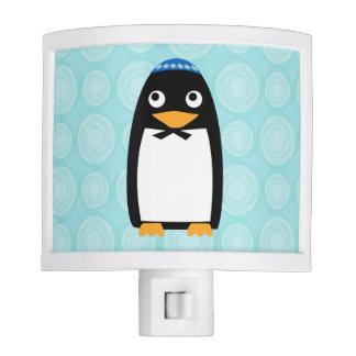 Pingüino judío feliz luces de noche