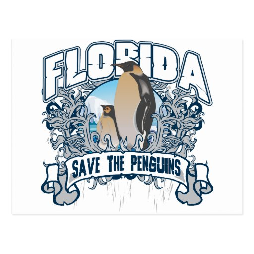 Pingüino la Florida Tarjeta Postal