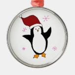 Pingüino lindo adornos de navidad