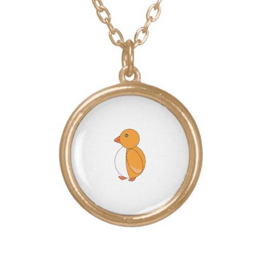 Pingüino lindo amarillo de oro grimpolas personalizadas