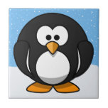 Pingüino lindo azulejo