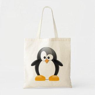Pingüino lindo bolsa tela barata