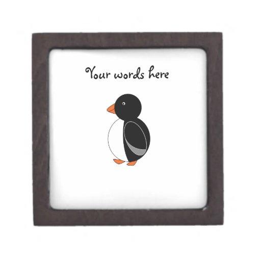 Pingüino lindo caja de joyas de calidad