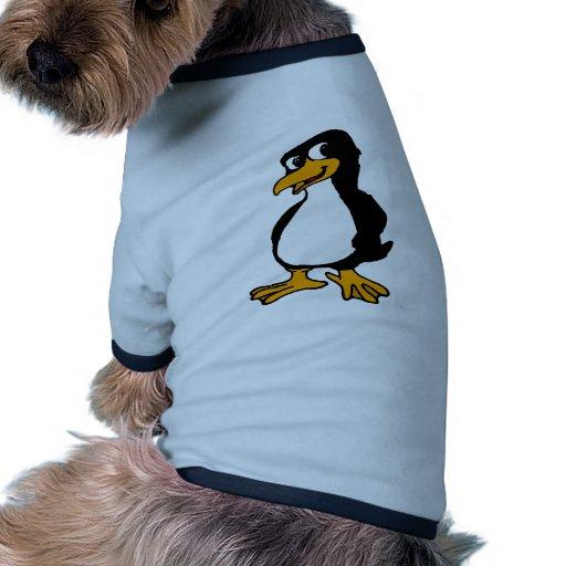 Pingüino lindo camisas de perritos