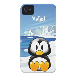 Pingüino lindo Case-Mate iPhone 4 cárcasa