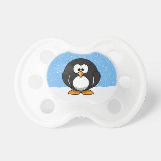 Pingüino lindo chupete de bebe