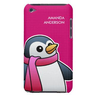 Pingüino lindo con la caja de la casamata del iPod touch Case-Mate protectores
