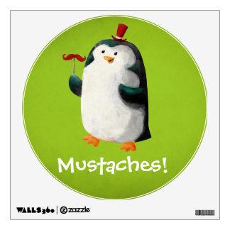Pingüino lindo con los bigotes