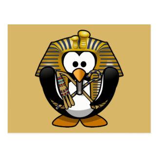 Pingüino lindo de Pharoah del dibujo animado con Postales