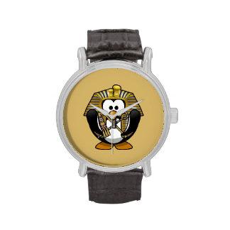 Pingüino lindo de Pharoah del dibujo animado con Relojes De Mano