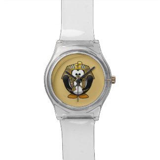 Pingüino lindo de Pharoah del dibujo animado con Relojes De Pulsera