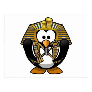 Pingüino lindo de Pharoah del dibujo animado Postal