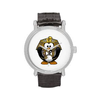 Pingüino lindo de Pharoah del dibujo animado Relojes De Pulsera