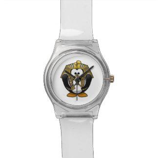 Pingüino lindo de Pharoah del dibujo animado Reloj De Mano