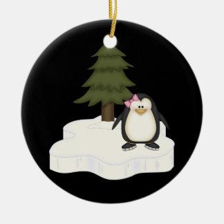 Pingüino lindo adorno de reyes