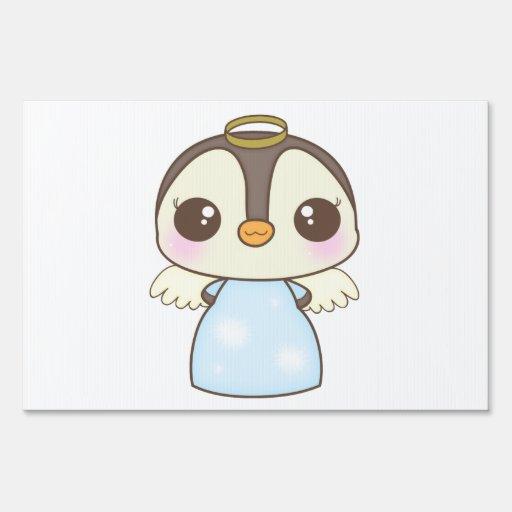 pingüino lindo del ángel del invierno del navidad