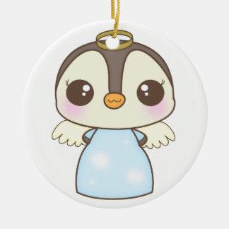 pingüino lindo del ángel del invierno del navidad ornatos