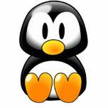 Pingüino lindo del bebé - Customizeable Escultura Fotografica