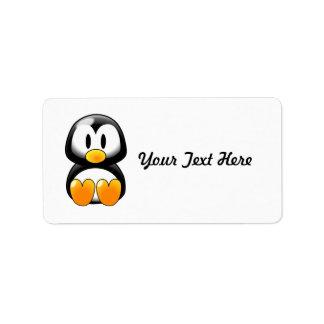 Pingüino lindo del bebé - Customizeable Etiqueta De Dirección