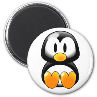Pingüino lindo del bebé - Customizeable Imán Redondo 5 Cm